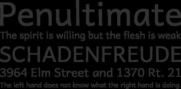 Andika Basic Font Phrases