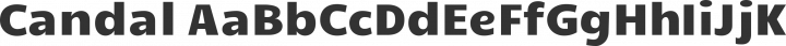 Candal Regular free font