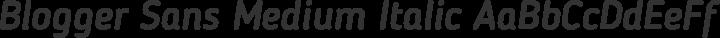 Blogger Sans Medium Italic free font