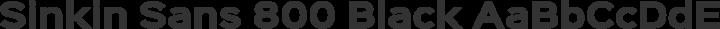 Sinkin Sans 800 Black free font