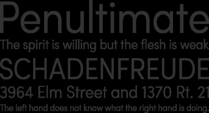 Sofia Pro Condensed Font Phrases
