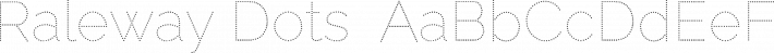 Raleway Dots  font family by Impallari Type
