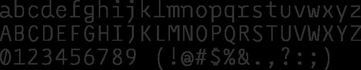 Monoxil Font Specimen