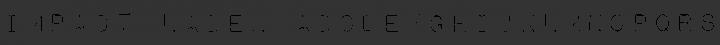 Impact Label Regular free font