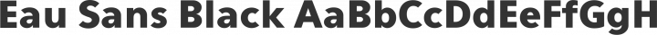 Eau Sans Black free font