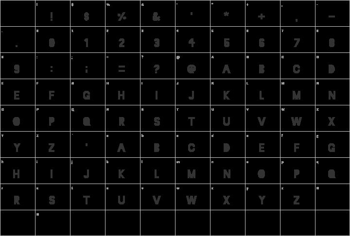 Blackout Glyph Map