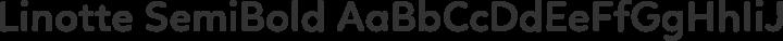 Linotte SemiBold free font