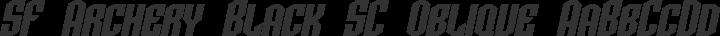 SF Archery Black SC Oblique free font