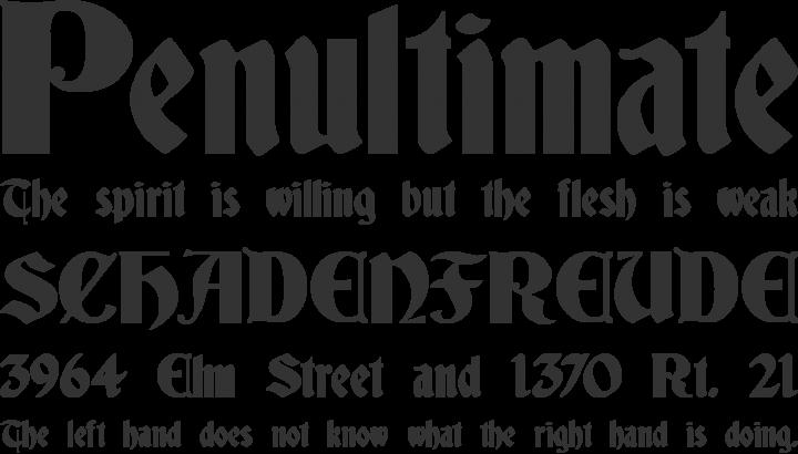 Deutsch Gothic Font Free By James Fordyce Font Squirrel