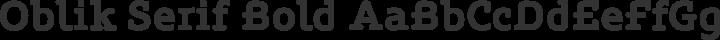 Oblik Serif Bold free font