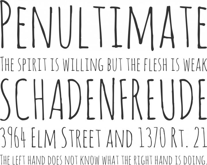 amatic font free by vernon adams font squirrel