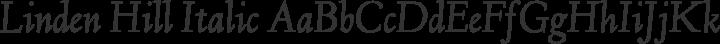Linden Hill Italic free font