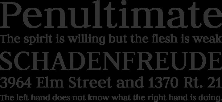 Judson Font Phrases