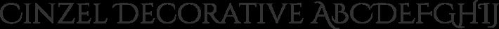 Cinzel Decorative font family by Natanael Gama