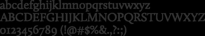 Calluna Font Specimen