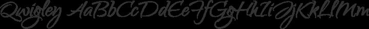 Qwigley Regular free font
