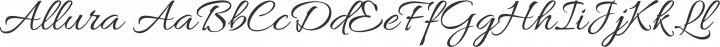 Allura Regular free font