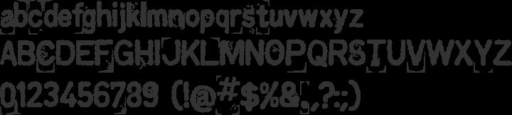 Kingthings Printingkit Font Specimen