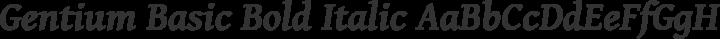 Gentium Basic Bold Italic free font