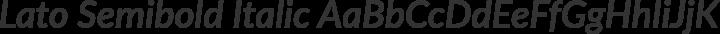 Lato Semibold Italic free font