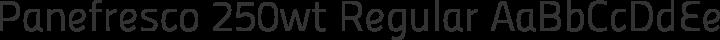 Panefresco 250wt Regular free font