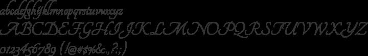 Tangerine Font Specimen