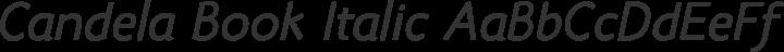 Candela Book Italic free font