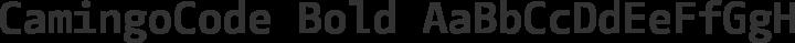 CamingoCode Bold free font