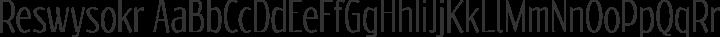 Reswysokr Regular free font