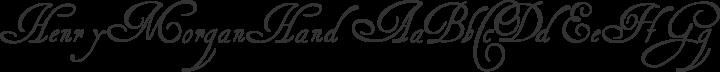 HenryMorganHand Regular free font