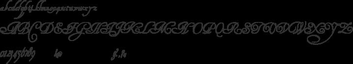 HenryMorganHand Font Specimen