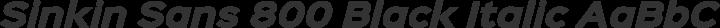 Sinkin Sans 800 Black Italic free font