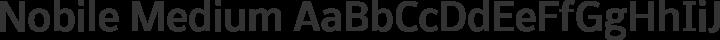 Nobile Medium free font