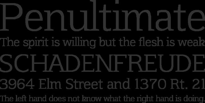 Afta Serif Font Phrases