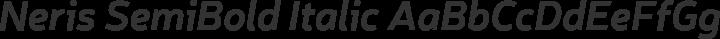 Neris SemiBold Italic free font