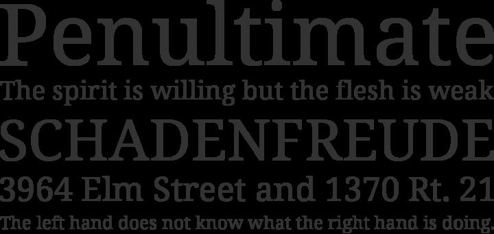 Noto Serif Font Phrases