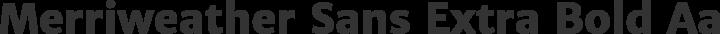 Merriweather Sans Extra Bold free font