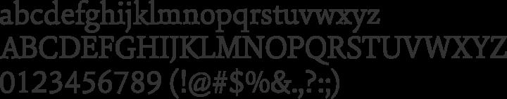 Sina Nova Font Specimen