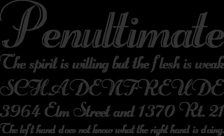 Rechtman Font Phrases