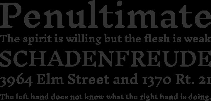 Inknut Antiqua Font Phrases