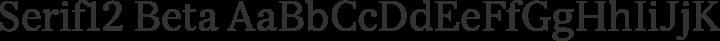 Serif12 Beta Regular free font
