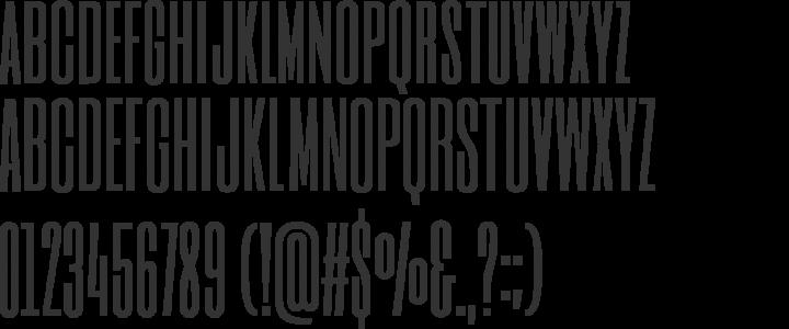 Six Caps Font Specimen