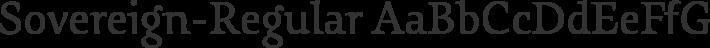 Sovereign-Regular font family by G-Type