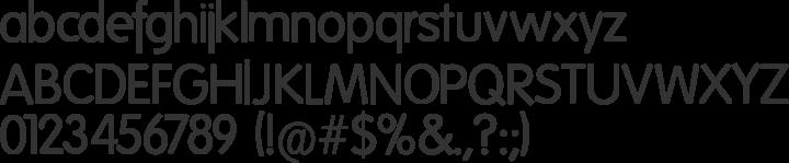 Folks-Light Font Specimen