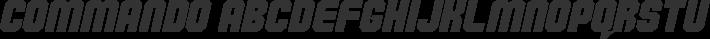 Commando font family by defaulterror