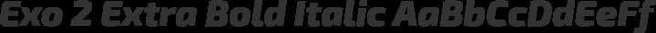 Exo 2 Extra Bold Italic free font