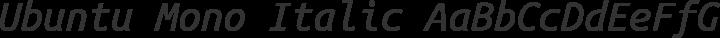 Ubuntu Mono Italic free font