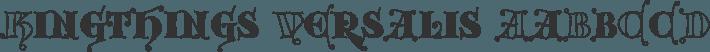 Kingthings Versalis font family by Kingthings