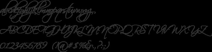 Scriptina Font Specimen