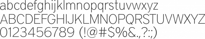 District Thin Font Specimen